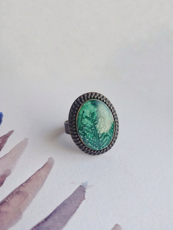 Hand Painted Ring  No. 11