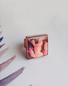 Hand Painted Ring  No. 17