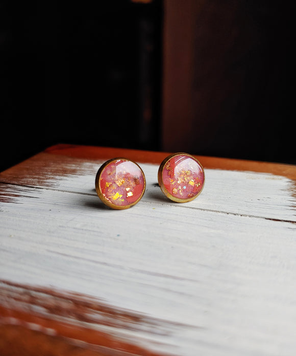 Post Earrings Polymer Clay and Resin - Made to Order- Honeysuckle