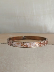 Polymer Clay Inlay Bangle Cuff Bracelet - Golden Sunrise.
