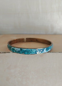 Polymer Clay Bangle Inlay Cuff Bracelet - Iceland.