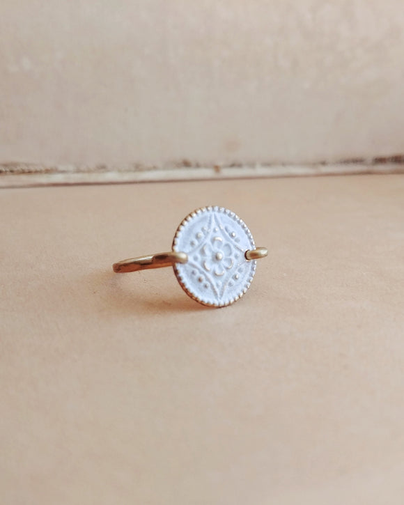 Minimalist Floral Ring - Floral No. 8