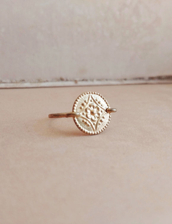 Reserved - Minimalist Floral Ring - Floral No. 4