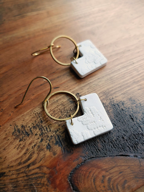 Geometric Polymer Clay Dangle Earrings - Kit-kit-dizze No. 3