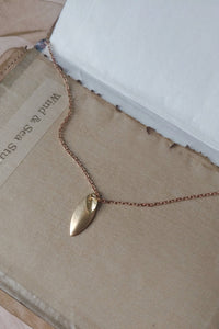 "Tiny Leaf Pendant Necklace - ""Gold Leaf"""