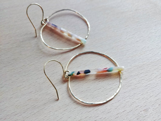 Modern Boho Hoop Earrings - Made to Order - Confetti.