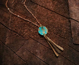Boho Modern Fringe Necklace - Emerald Cove.