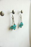 Bohemian Cluster Earrings in Caribbean Blue - Lanterns in Antigua