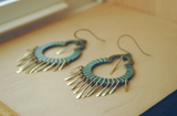 Boho Chandelier Earrings Hammered Brass - The Euphrates