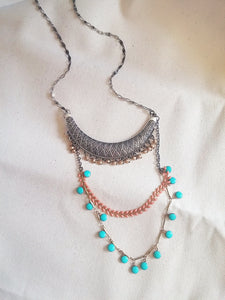 Aztec Curve Necklace Bohemian Layered - Cordoba No. 2