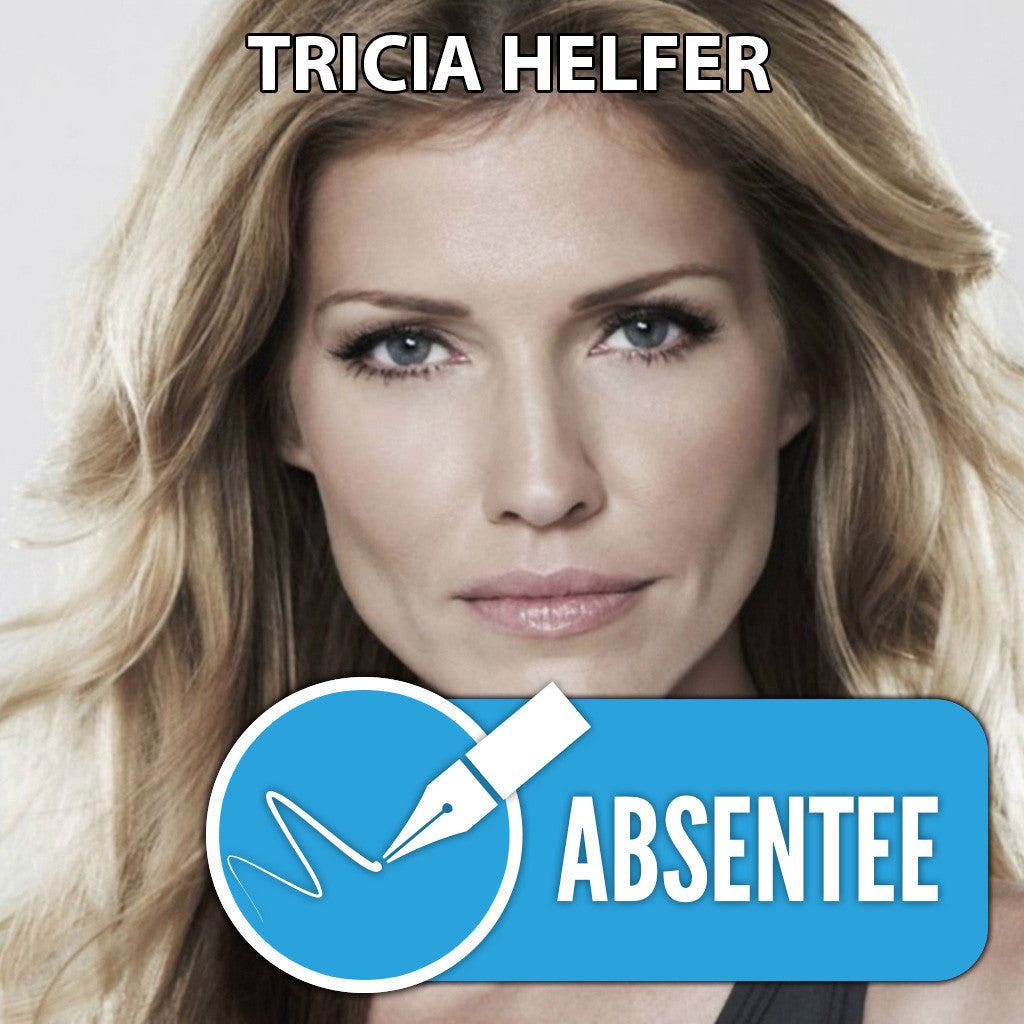 Tricia Helfer Absentee Autograph