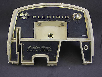 McCulloch 7.5hp Ted Williams 1969 Electric Start Front Face Cover Plate Control