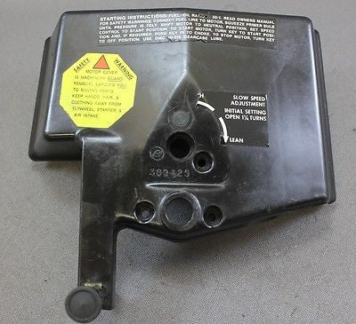 Johnson Evinrude 25hp 35hp 1979-1981 Carb Air Silencer Box 0389414 Choke Knob