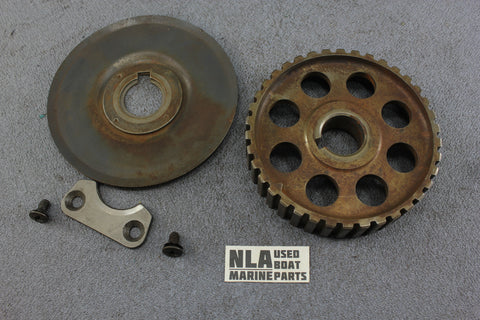 OMC 0912759 Cobra Ford 2.3L 4cyl Auxiliary Drive Shaft Cover Sprocket Camshaft