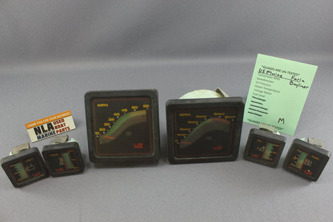 Boat Gauge Set Bayliner US Marine Faria Square Gauges Black RPM Speedometer Fuel
