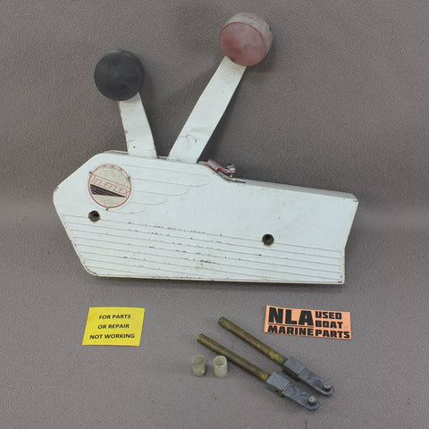 Teleflex Dual Lever Remote Control Box Shift Throttle Vintage -For Parts Only-