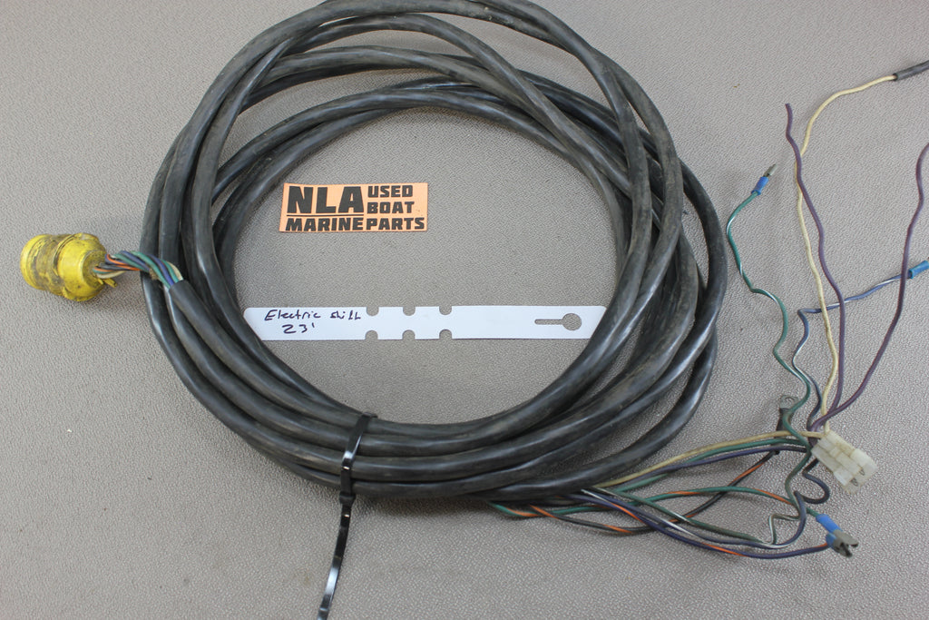 OMC Stringer Electric Shift Wire Wiring Harness 23\' FT Dash Yellow ...