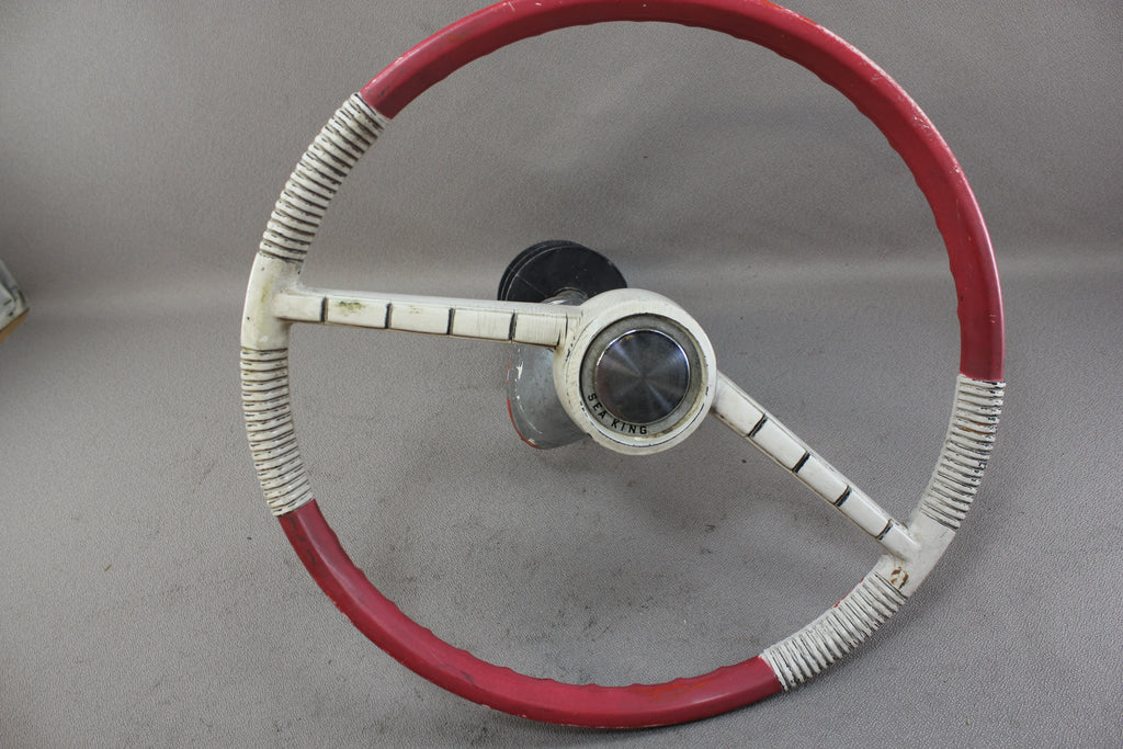 Vintage Boat Pulley Drum Steering Wheel Helm Sea King Cable Outboard W Nla Marine