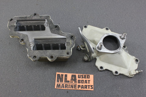 Chrysler Force Outboard 1970 55hp 559HA Reed Valves Intake Manifold Throttle - NLA Marine