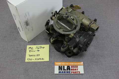 MerCruiser 1351-5204A1 Carburetor Assembly Rochester 2BBL 165hp 4.1L 6cyl 1970's