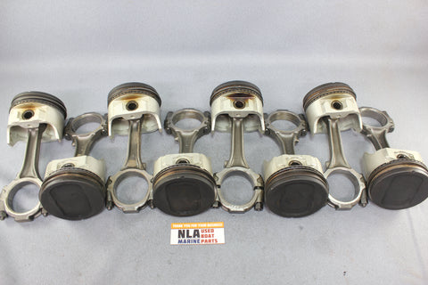 Ford D9AE-6110-AC Piston Connecting Rod Set OMC Stringer 351 5.8L V8 1979 Engine
