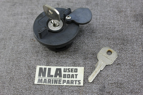 Boat Marine  Fuel Gasoline Gas Locking  Fill Cap Base Deck Perko 1324DP0BLK - NLA Marine