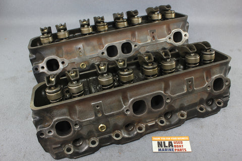 GM 14101081 Cylinder Head Pair V8 5.0L 305 Chevy MerCruiser 938-9714 1987-1995