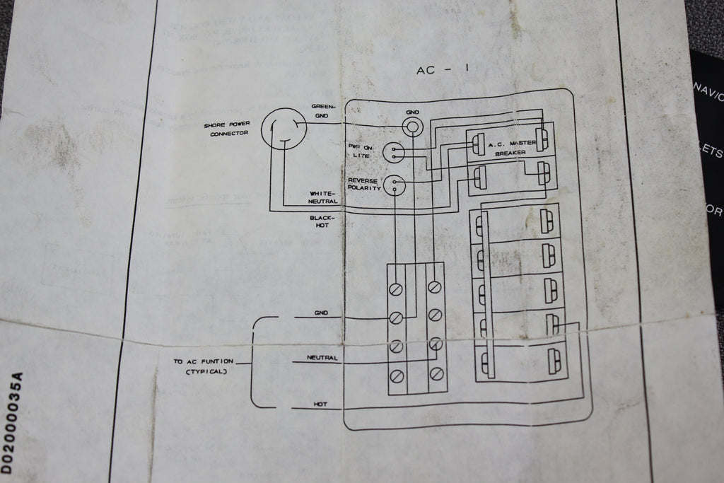 AC Main 30A NEWMAR Circuit Breaker Panel 5 Position 20A 15A 10A AC-I Newmar Wiring Diagrams on