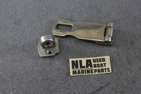 Boat Marine Cabin Door Hasp Lock Latch Hook Gate Hardware Stainless 3""