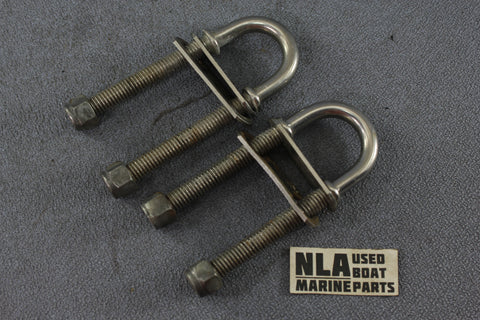 Boat Marine Heavy Duty Stainless Steel U-Bolt Bow Stern Transom Towing Hardware