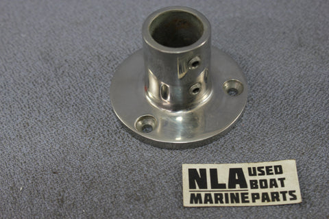 Boat Marine Bow Rail Fitting Round Base Hardware Stanchion 90ºdeg Set Screw 7/8""