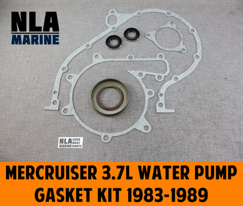 "MerCruiser ""470"" 3.7L Water Pump Cover Impeller Housing Gasket Seal Kit 1983-89"