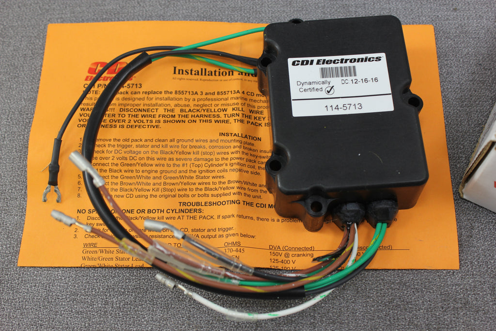 Mercury Mariner Outboard Switch Box 25hp 20hp 15hp 2cyl