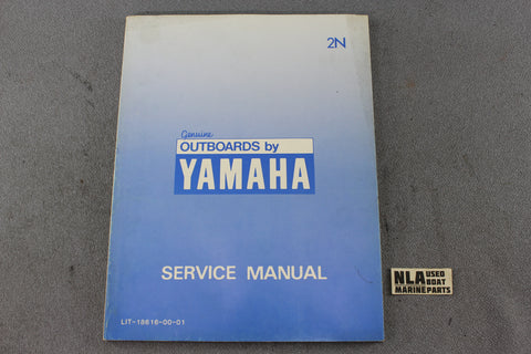 Yamaha Outboard Lit-18616-00-01 2N 2hp Repair Shop Service Manual Fix 2-Stroke