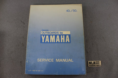 Yamaha Outboard Lit-18616-00-11 40N 50N 40hp 50hp Repair Shop Service Manual