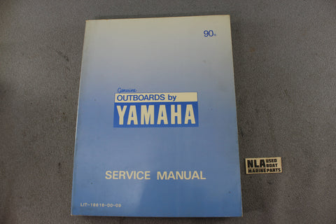 Yamaha Outboard Lit-18616-00-09 90N 90hp Repair Shop Service Manual Fix 2-Stroke
