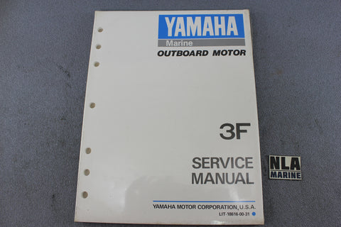 Yamaha Outboard Lit-18616-00-31 3F 3hp Repair Shop Service Manual 2-Stroke NEW