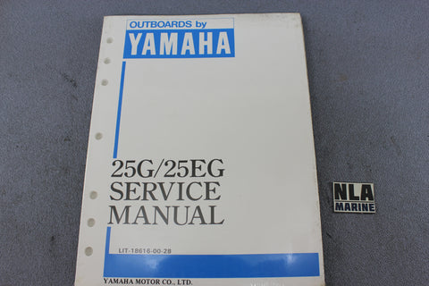 Yamaha Outboard Lit-18616-00-28 25G 25EG 25hp Repair Shop Service Manual Fix NEW