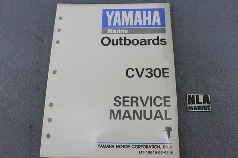 Yamaha Outboard Lit-18616-00-42 CV30E 30hp Repair Shop Service Manual Fix NEW
