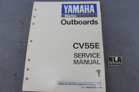 Yamaha Outboard Lit-18616-00-43 CV55E 55hp Repair Shop Service Manual Fix NEW