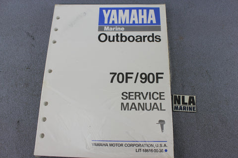 Yamaha Outboard Lit-18616-00-36 70F 90F 70hp 90hp Repair Shop Service Manual NEW