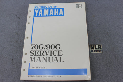 Yamaha Outboard Lit-18616-00-30 70G 90G 70hp 90hp Repair Shop Service Manual NEW
