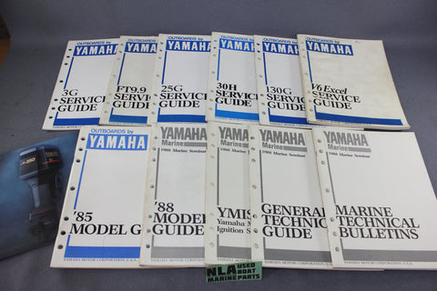 Yamaha Outboard Repair Shop Model Service Guides 2-Stroke 80's Bulletins