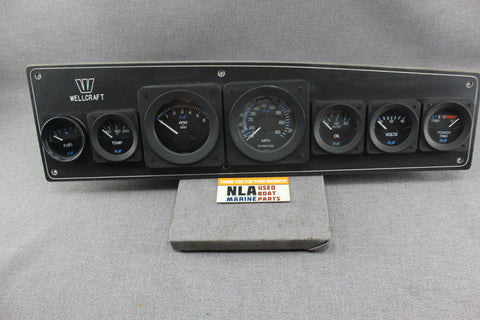 Boat Wellcraft Panel Gauges Cluster Dash Medallion RPM Speedometer Tachometer
