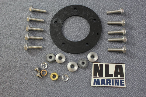 Boat Fuel Gas Tank Sender Indicator Sending Unit Gasket Screws 5-Hole Marine Kit - NLA Marine