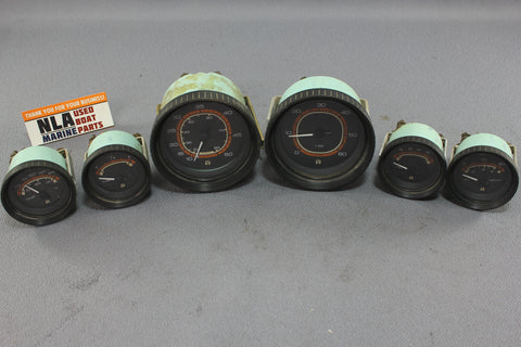 Boat Gauge Set Teleflex Gauges RPM Speedometer Tachometer Water Temp Fuel Oil