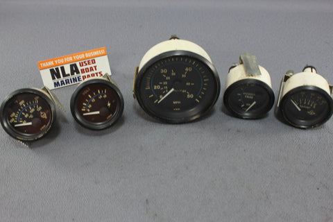 Boat Gauges Set VDO Speedometer Trim Oil Pressure Water Temp 90's MasterCraft