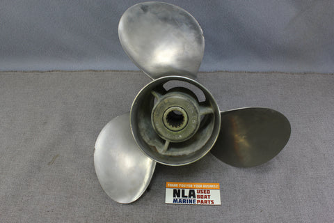 "Johnson Evinrude SSO-651-C Prop Propeller 13 3/4""x21P OMC Stainless Steel 389923"