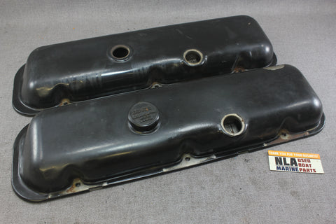 Chevy GM Steel Valve Rocker Covers Older BBC 454 502 1980s 7.4L 8.2L MerCruiser?