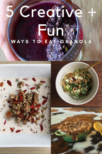 fun creative ways to eat granola